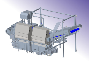 Design of washing plant for larger food processing line