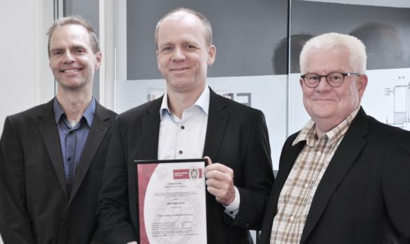 Med en ISO 9001:2015 sætter FRECON yderligere fokus på kvalitet