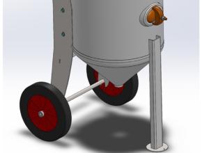 Mobil sandpotte til videreudvikling og klargøring til CE-godkendelse