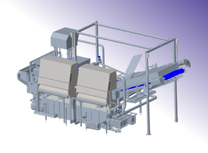 Konstruktion af vaskeanlæg til større fødevareproceslinje