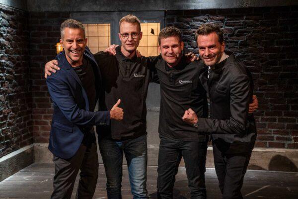 """WeldingDroid med investorerne Jesper Buch og Jacob Risgaard i tv-programmet """"Løvens Hule"""""""